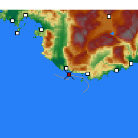 Nearby Forecast Locations - Patara - Map