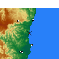Nearby Forecast Locations - Nambucca Heads - Map