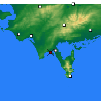 Nearby Forecast Locations - Sandy Point - Map