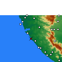 Nearby Forecast Locations - Varkala - Map