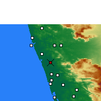 Nearby Forecast Locations - Thrissur - Map