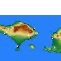 Nearby Forecast Locations - Padangbai - Map