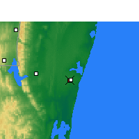 Nearby Forecast Locations - Sodwana Bay - Map