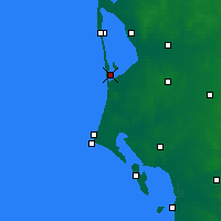 Nearby Forecast Locations - Bork Havn - Map