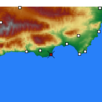Nearby Forecast Locations - Roquetas de Mar - Map
