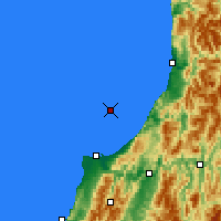 Nearby Forecast Locations - Karamea Bight - Map