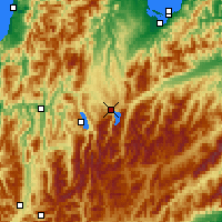 Nearby Forecast Locations - Lake Rotoiti - Map