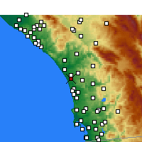 Nearby Forecast Locations - Carlsbad - Map