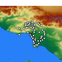 Nearby Forecast Locations - Santa Monica - Map