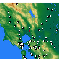 Nearby Forecast Locations - Napa - Map