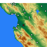 Nearby Forecast Locations - Salinas - Map
