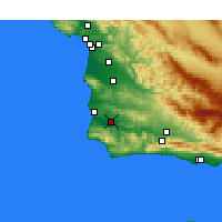Nearby Forecast Locations - Lompoc Airport - Map