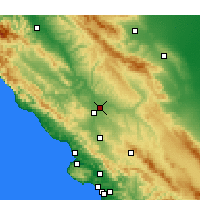 Nearby Forecast Locations - Paso Robles - Map