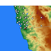 Nearby Forecast Locations - Tijuana - Map