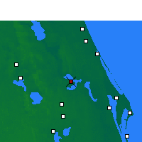 Nearby Forecast Locations - Orlando AP/S - Map