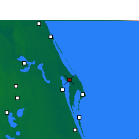 Nearby Forecast Locations - C. Canaveral - Map
