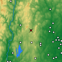 Nearby Forecast Locations - Jaffrey - Map