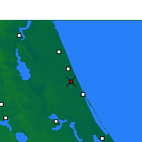 Nearby Forecast Locations - Daytona Beach - Map