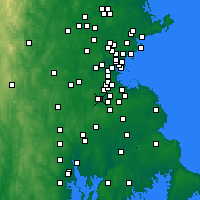 Nearby Forecast Locations - Norwood - Map
