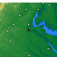 Nearby Forecast Locations - Fredericksburg - Map