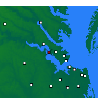 Nearby Forecast Locations - Fort Eustis - Map