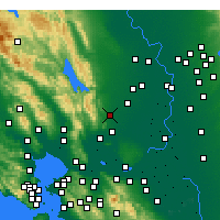 Nearby Forecast Locations - Vacaville - Map