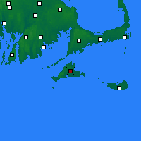 Nearby Forecast Locations - Martha's Vineyard - Map