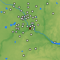 Nearby Forecast Locations - St Paul South - Map