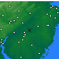 Nearby Forecast Locations - Mount Holly - Map