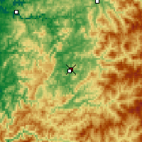 Nearby Forecast Locations - Roseburg - Map
