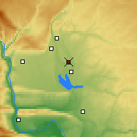 Nearby Forecast Locations - Moses Lake - Map