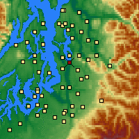 Nearby Forecast Locations - Renton - Map