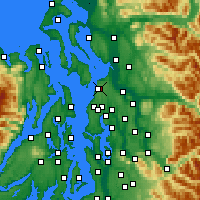 Nearby Forecast Locations - Everett - Map