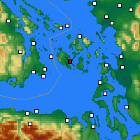 Nearby Forecast Locations - Friday Harbor - Map
