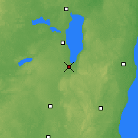 Nearby Forecast Locations - Fond Du Lac - Map