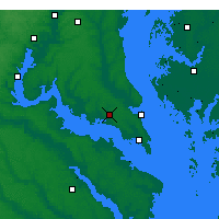 Nearby Forecast Locations - Leonardtown - Map