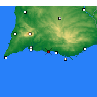 Nearby Forecast Locations - Albufeira - Map