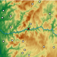 Nearby Forecast Locations - Peso da Régua - Map