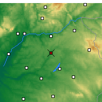 Nearby Forecast Locations - Ponte de Sor - Map