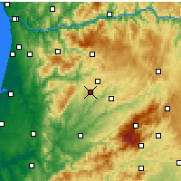 Nearby Forecast Locations - Tondela - Map