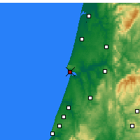 Nearby Forecast Locations - Figueira da Foz - Map