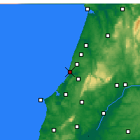 Nearby Forecast Locations - Nazaré - Map