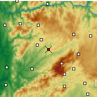 Nearby Forecast Locations - Mangualde - Map
