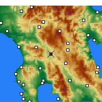 Nearby Forecast Locations - Megalopolis - Map