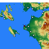 Nearby Forecast Locations - Killini - Map