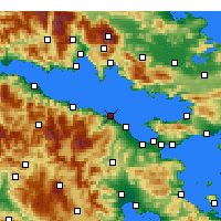 Nearby Forecast Locations - Xylokastro - Map