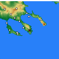 Nearby Forecast Locations - Sykia - Map