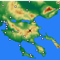 Nearby Forecast Locations - Arnaia - Map