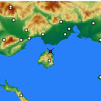 Nearby Forecast Locations - Thasos - Map