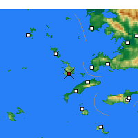 Nearby Forecast Locations - Kalymnos - Map